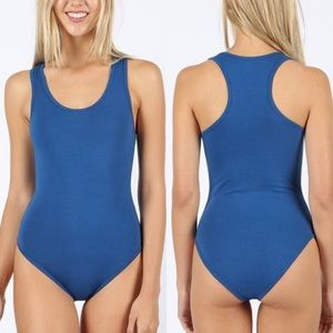 30% OFF 2/MORE S,M,L,XL Racerback Bodysuit Blue